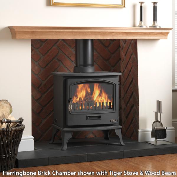 Gallery Rustic Herringbone Brick Fireplace Chamber Panels Flames Co Uk